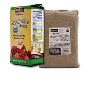 Hemp protein with fiber
