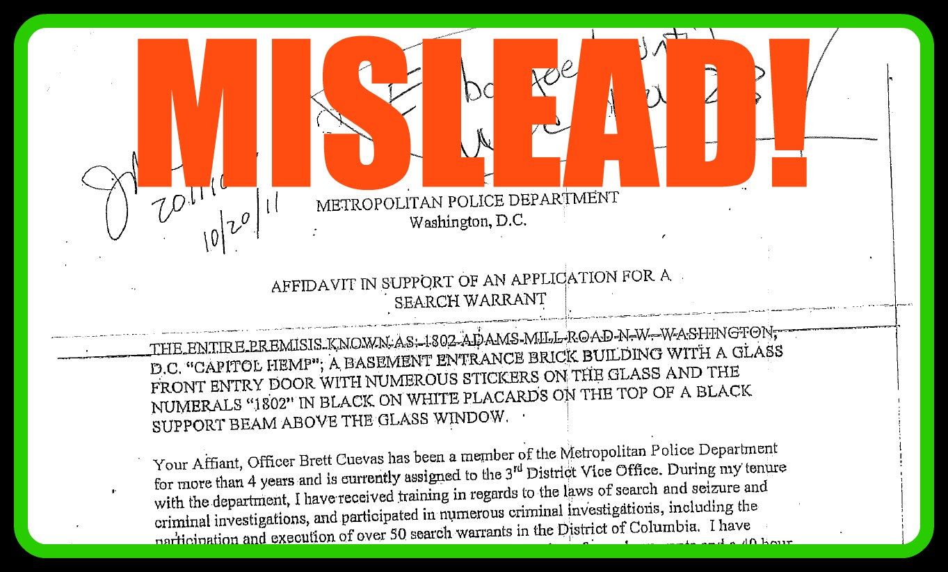A Misleading Affidavit from the DC Police