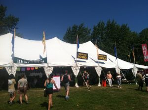 The entry to the Seattle Hempfest Hemposium