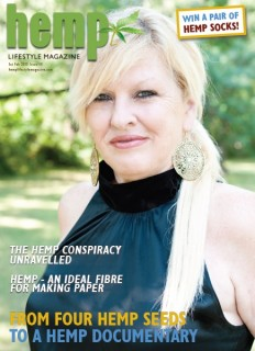 Diana Oliver - Featured on the cover of Hemp Lifestyle Magazine