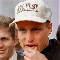 Woody Harrelson - Kentucky hemp planting
